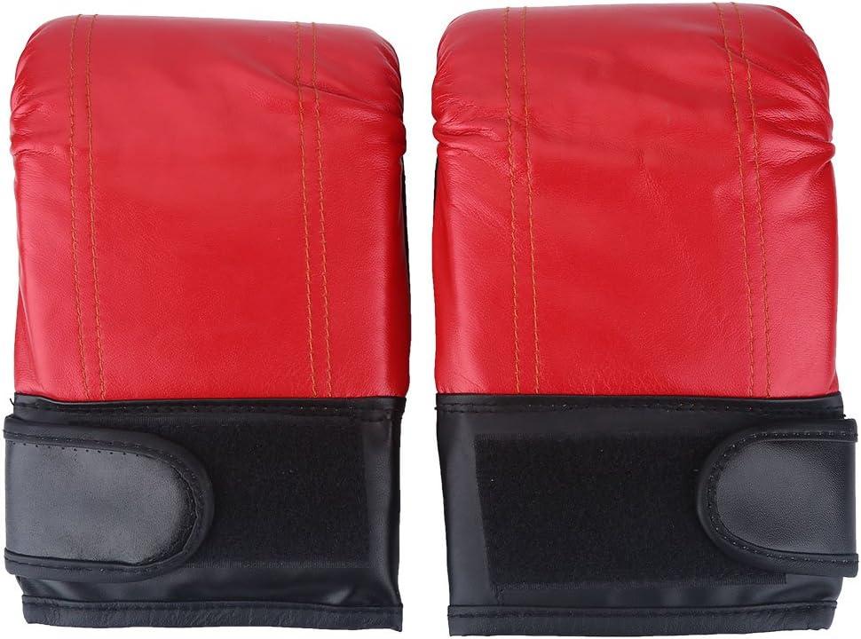 1 Paire de Gants de Boxe Respirants en PU pour entra/înement de Kickboxing Rouge VGEBY Gants de Boxe