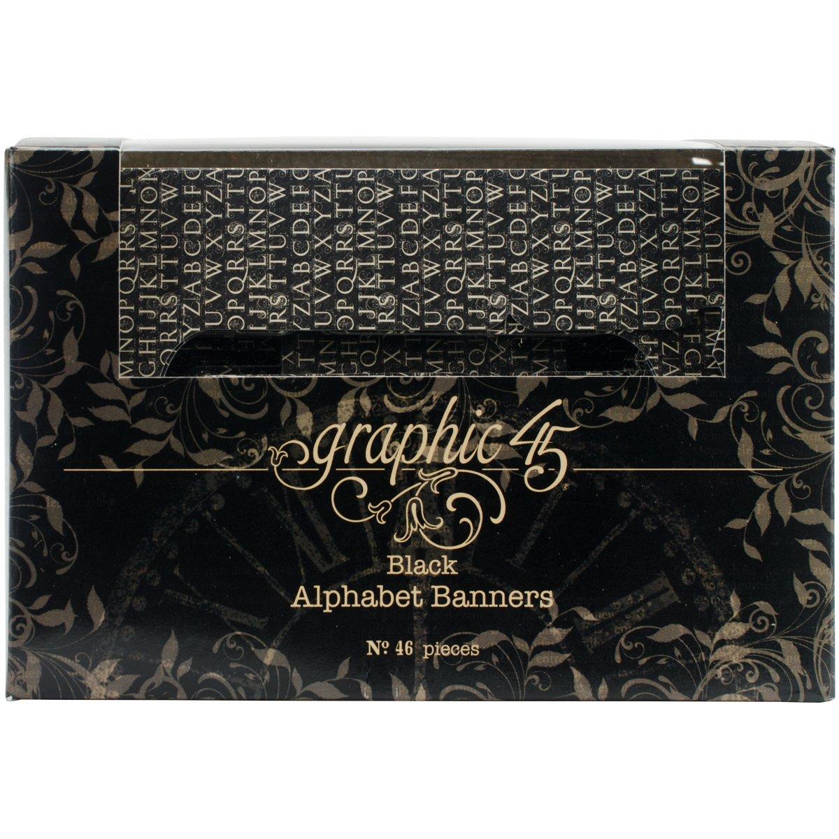 Graphic 45-Striscione con lettere dell'alfabeto, in carta Kraft, carta, colore: marrone 4501270