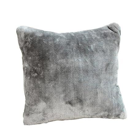 Fur Plush Square Throw Pillow Case Sofa Waist Cushion Cover Home Decors 40*40CM