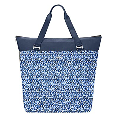 0c42e4c09573 Baggallini Extra Large Expendable Travel Gym Diaper Tote Bag w Key Chain  (Blue Prism)