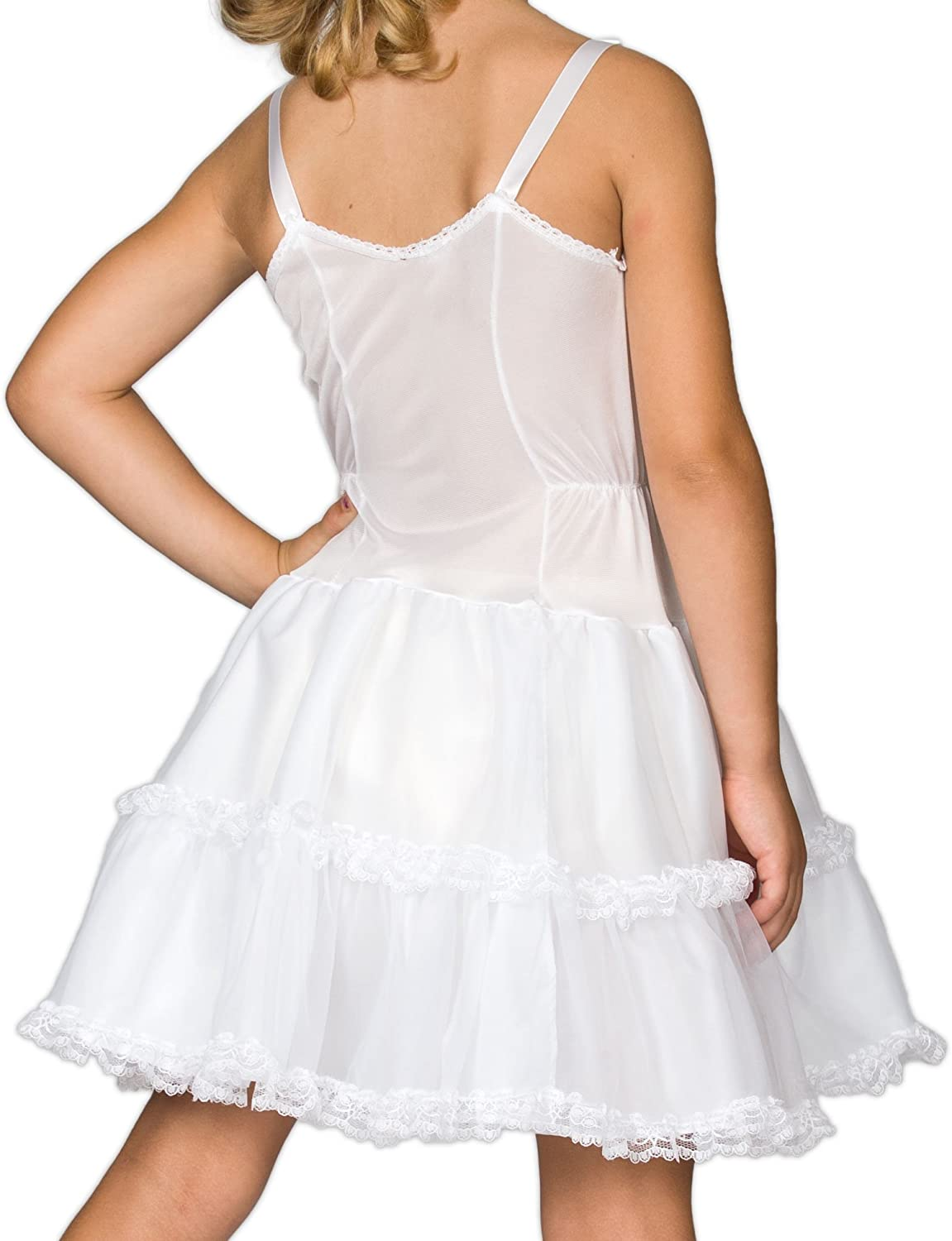 I.C 2T Collections Little Girls White Embellished A-Line Slip 6X
