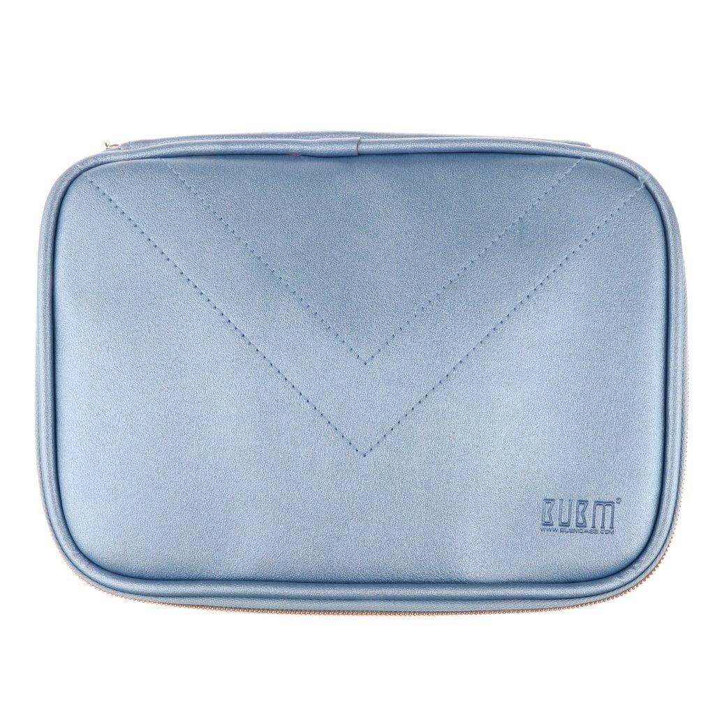 MonkeyJack Electronics Travel Organizer Waterproof Storage Bag for Phone Laptop Accessories USB Device Blue