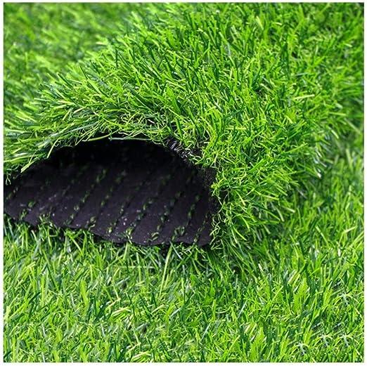 ALGWXQ Césped Artificial Filtración Automática Agua Libre Mantenimiento Resistente Desgaste Jardín Infancia Patio En La Azotea Hierba Falsa, 3 Tipos Verde, 3 Espesores (Color : B, Size : 2x1m 3cm): Amazon.es: Hogar