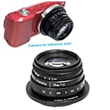 Fotasy 35mm F1.6 Large Aperture Manual Prime Fixed Lens APS-C for Sony E-Mount Camera, 35mm 1.6 Multi Coated Manual Lens fits Sony NEX-5R NEX6 NEX7 a3100 a51000 a6000 a6100 a63000 a6400 a6500 (Color: Black)