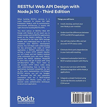 RESTful Web API Design with Node js 10: Learn to create
