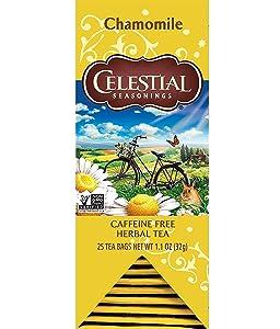 Celestial Seasonings Herbal Tea, Chamomile, 25 Count (Pack of 6)
