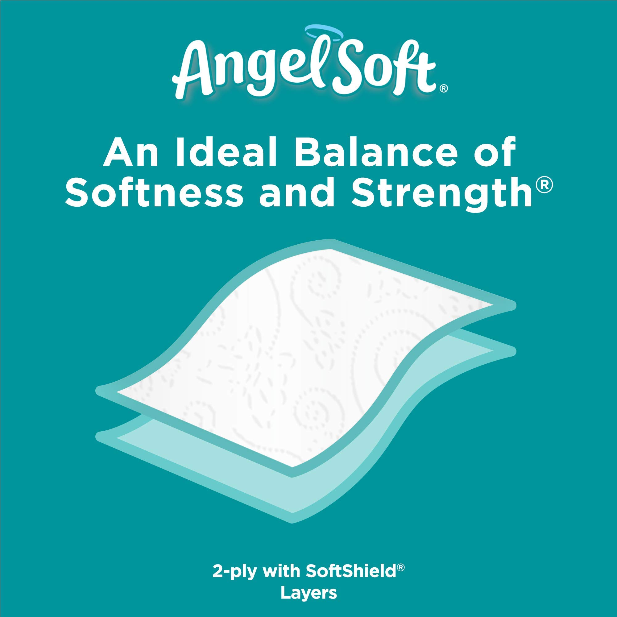 ANGEL SOFT Toilet Paper Bath Tissue, 36 Huge Rolls, 360+ 2-Ply Sheets Per Roll by Angel Soft (Image #5)
