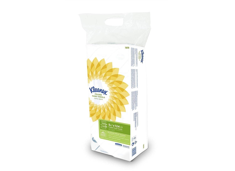 Kleenex 6771 Toallas Secamanos Interplegadas 30 Paquetes X 96 con 3 Capas Blanco Mediano