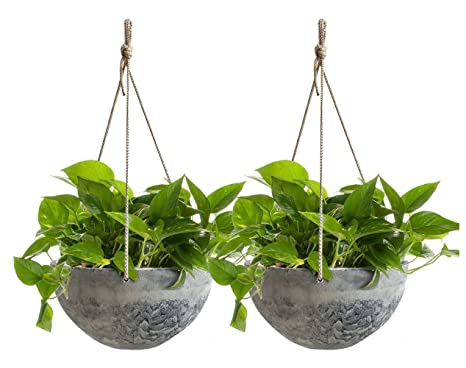 Amazon Com Hanging Planter Flower Plant Pots 10 Indoor Outdoor