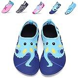 DKRUCAK Girls Boys Water Shoes Lightweight Quick-Dry Barefoot Aqua Socks Shoes For Lawn Pool Dance