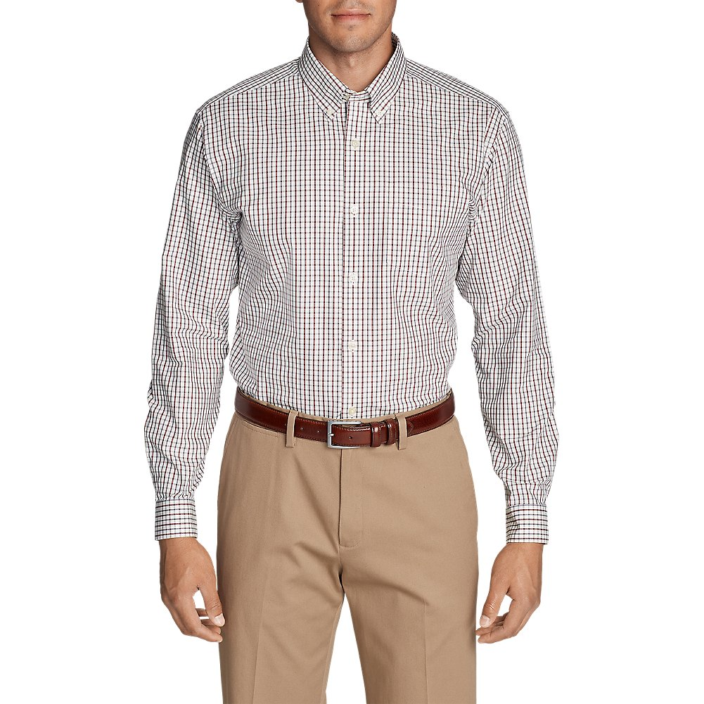 Eddie Bauer Men's Wrinkle-Free Pinpoint Oxford Classic Fit Long-Sleeve Shirt - S