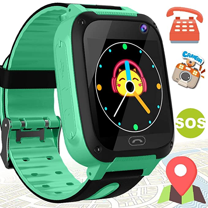 etuoji Kids GPS Tracker Smartwatch Girls Boys SOS Anti-Lost Camera Touch Screen Outdoor Wrist Watch Bracelet