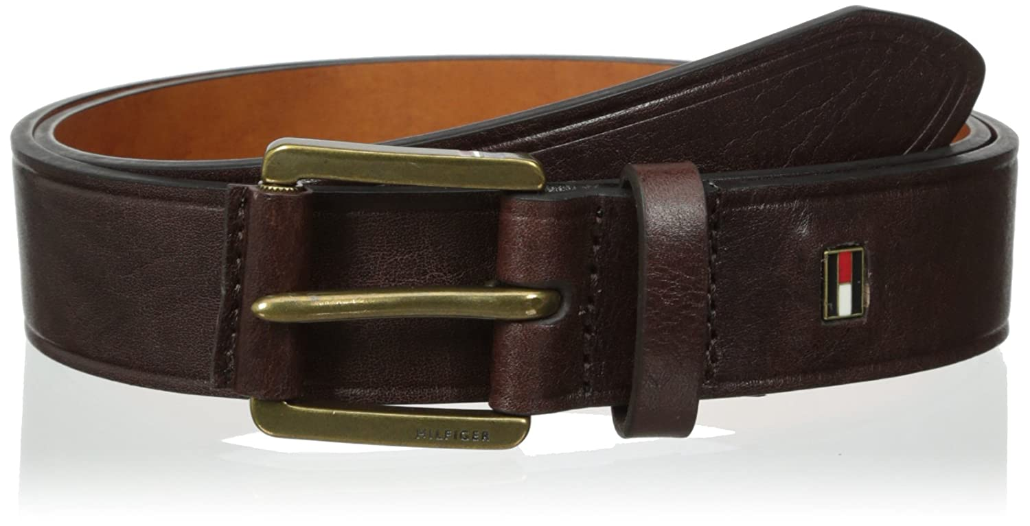 ebd9e76bf6a6 Tommy Hilfiger Men s Dress Casual Belt With Wrapped Knarled Buckle at  Amazon Men s Clothing store