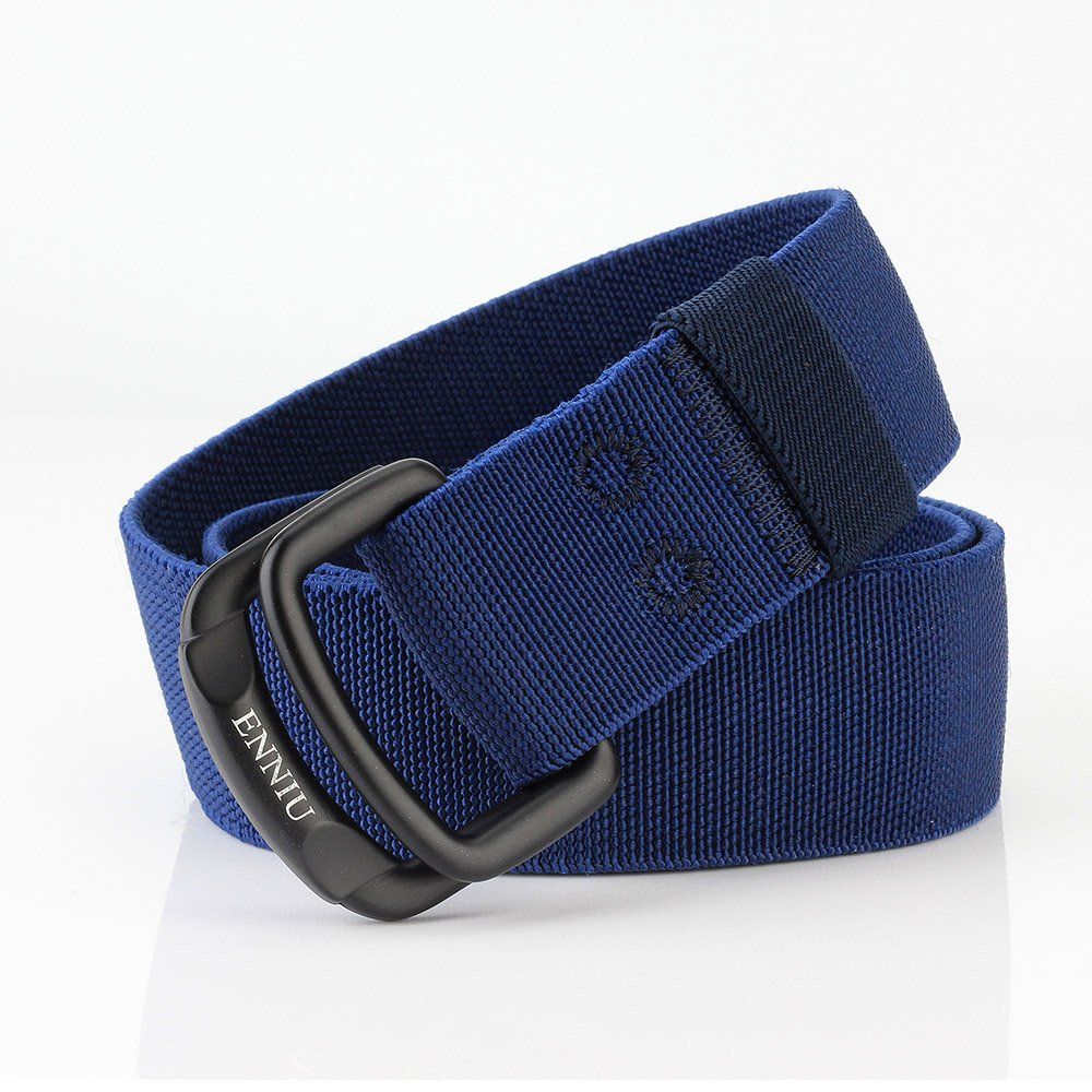 ITIEZY Nylon Tactical Web Belt Mens Military Elastic Outdoor Belt with Double D-Ring Buckle