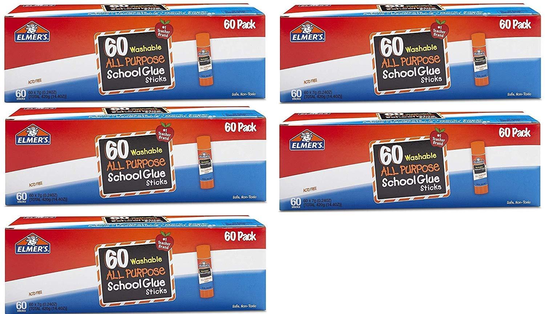 Elmers All Purpose School Glue Sticks, Washable, 0.24-ounce sticks, 300 Count
