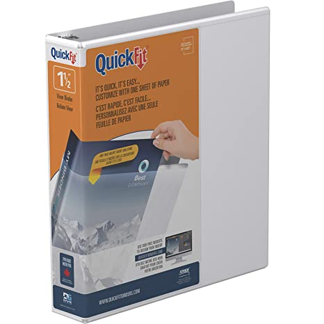 Amazon.com: Carpeta QuickFit View 1.5 pulgadas: Office Products