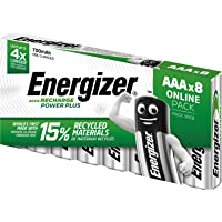 Energizer Rechargeable Batteries AAA, Recharge Power Plus, Pack of 8