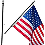 Grace Alley Flag Pole: 6 Foot Tangle Free Spinning Flag Pole. Residential or Commercial Flag Pole. Wind Resistant/Rust…