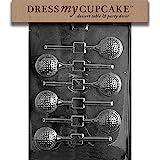 Dress My Cupcake Chocolate Candy Mold, Golf Ball Lollipop