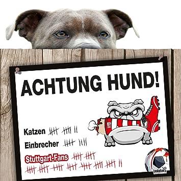 Darmstadt 98- /& alle Fu/ßball-Fans Dieser Revier-Markierer sch/ützt Haus /& Hof vor Stuttgart-Fans Mainz 05- Hunde-Warnschild Schutz vor Stuttgart-Fans Achtung Vorsicht Hund Bissig