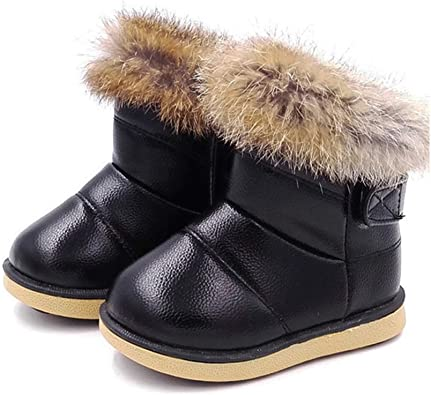 SUNNY Store Toddler Girls Boots Fur Lined Winter Boots Shoes