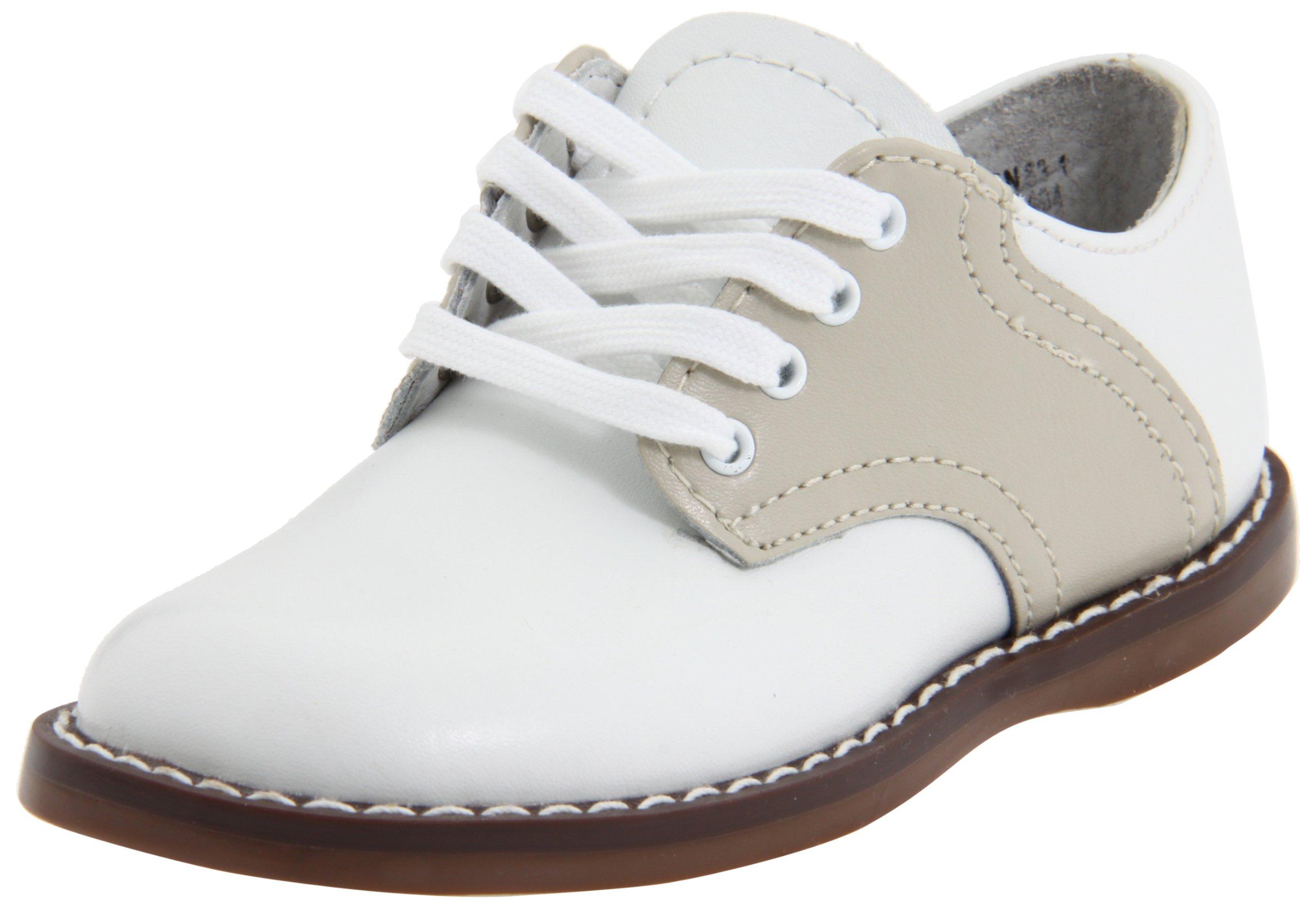 FootMates Cheer 2 Oxford (Infant/Toddler),White/Ecru,6 M US Toddler