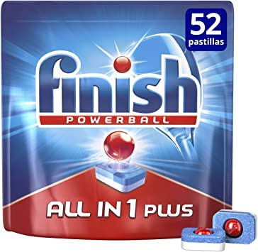 Finish Todo en 1 Max Regular Pastillas para Lavavajillas 52 ...