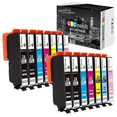 GPC Image 24XL Cartuchos de Tinta Compatible para Epson 24 XL para ...