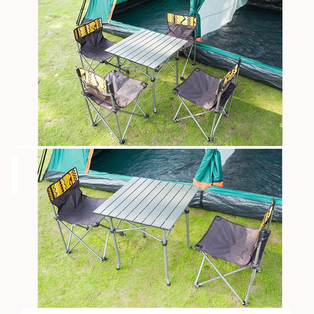 Amazon.com: Portable Outdoor Camping Table and Chair Set Foldable ...