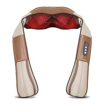 SIMBR Appareil de massage shiatsu cervical Massager du nuque cou épaule  périphérique Ceinture de massage infrarouge 0d7cc1188a2