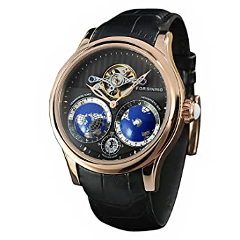 Buy forsining mens luxury automatic watch with world map tourbillon forsining mens luxury automatic watch with world map tourbillon movement stainless steel gumiabroncs Images