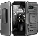 HTC U11 Life Case, TJS Dual Layer Hybrid Shock Absorbing Impact Resist Rugged Kickstand Armor