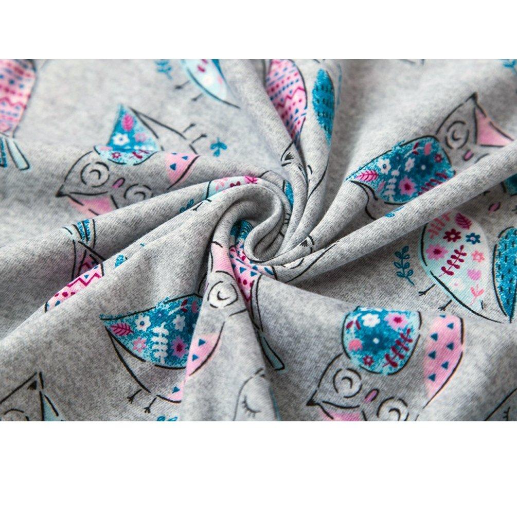 ENJOYNIGHT Women\'s Cute Sleepwear Print Tee and Shorts Pajama Set (Medium, Owl)