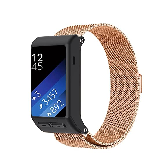 SENTER for Garmin vivoactive HR Watch band,Milanese Loop Stainless Steel Replacement Bracelet Strap for vivoactive HR Smart Watch with Unique Magnet ...