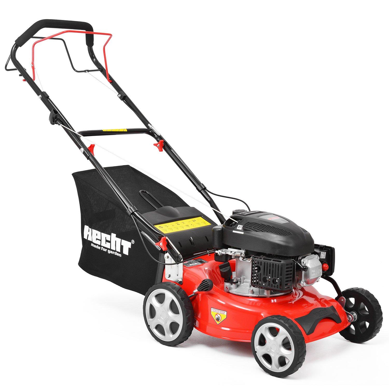 HECHT Benzin-Rasenmäher 541 SW Benzin-Mäher (3,5 PS Motorleistung, 40,6 cm Schnittbreite, 6-fache Schnitthöhenverstellung 25-75 mm, 40 L Fangsack)