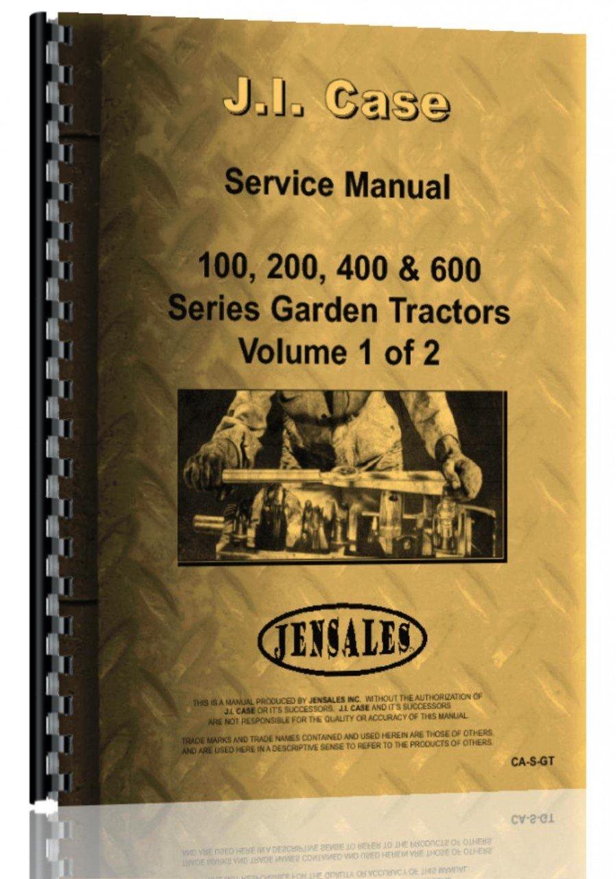 Download Case 100 Lawn & Garden Tractor Service Manual PDF