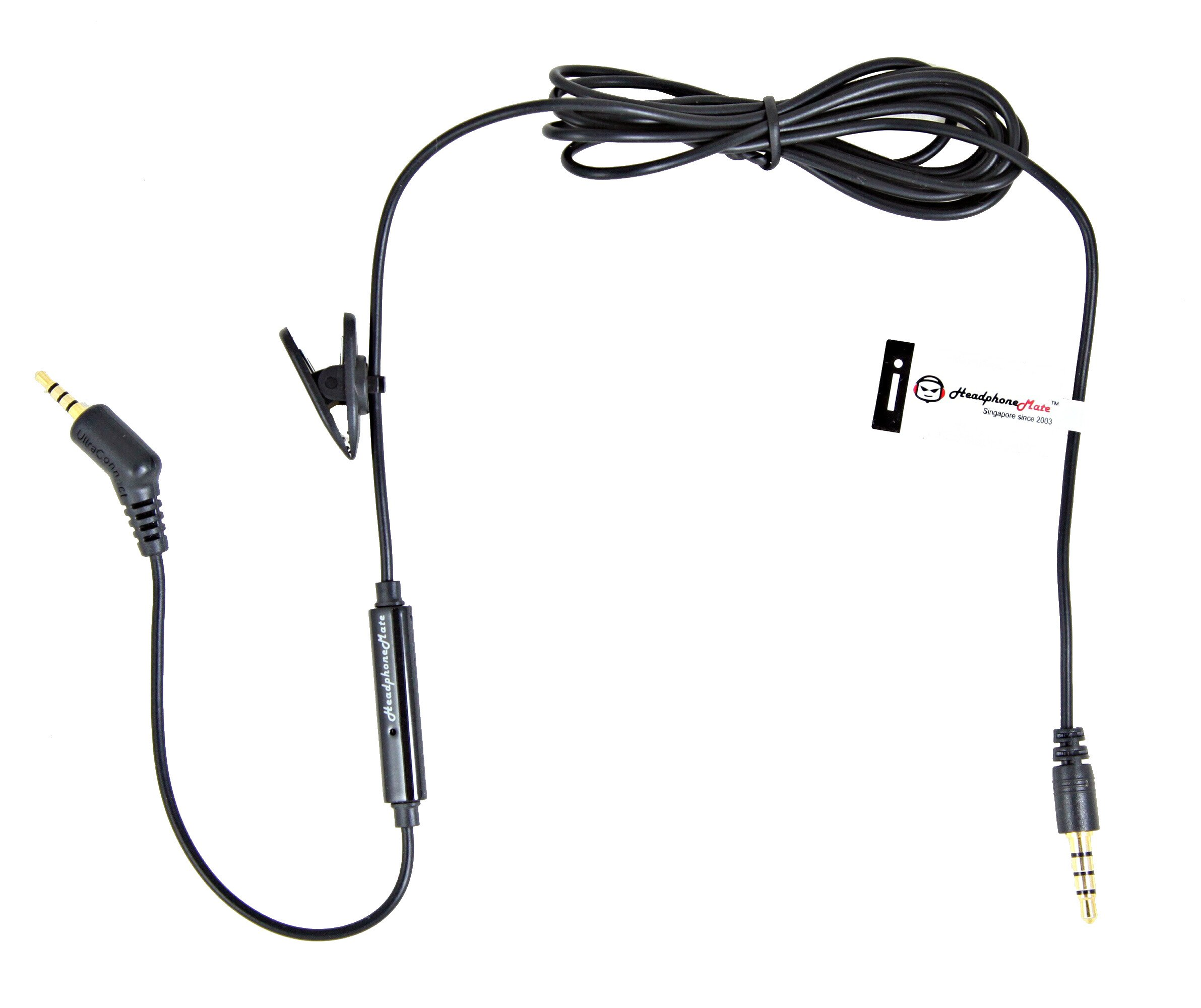 HeadphoneMate Inline Remote and Microphone Cable for Bose QC3 Headphones and iPhone