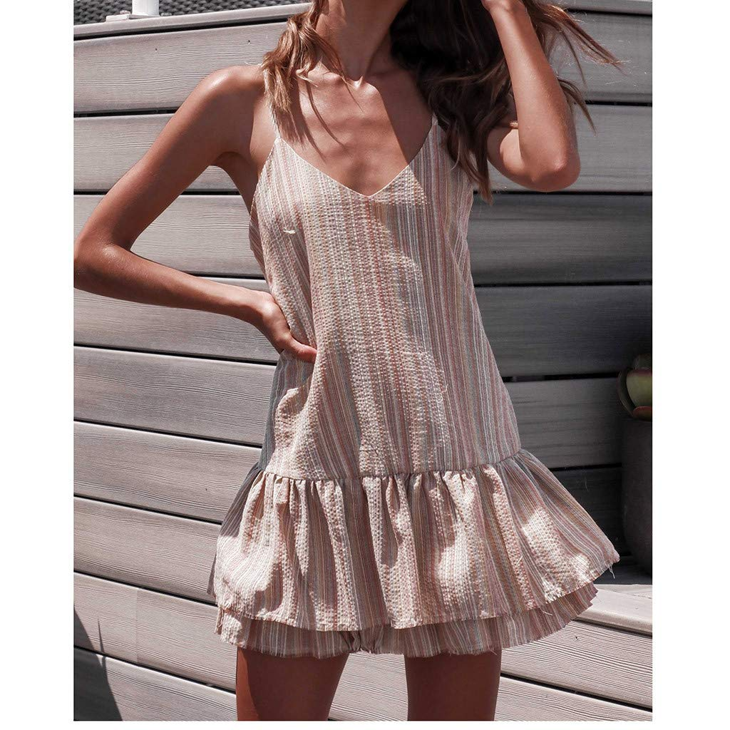 Onefa Ladies Spring and Summer Casual Printing Off-Shoulder Short Sleeve Evening Party Mini Dress $ 1 Princess Dress