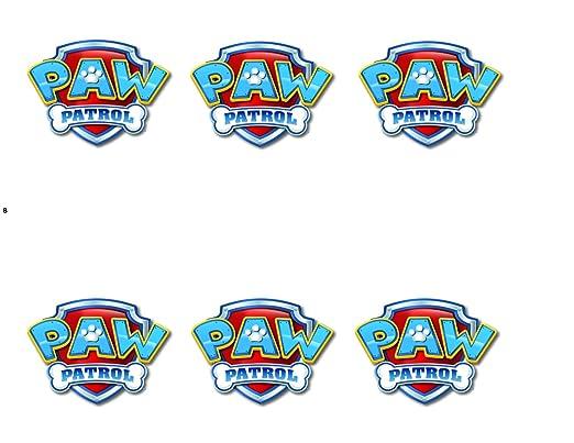 Paw Patrol logotipo Hoja Comestible Foto tarta de cumpleaños ...