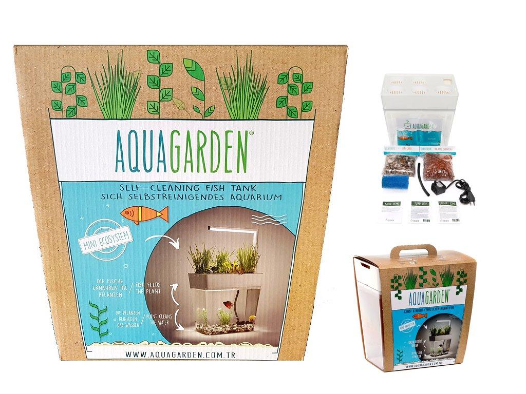 Aquarium-Komplettset inkl. LED-Lampe - AquaGarden - selbstreinigendes Aquarium mit Mini-Garten - innovatives & dekoratives Ökosystem für Pflanzenwachstum und Fischhaltung Kohler GmbH