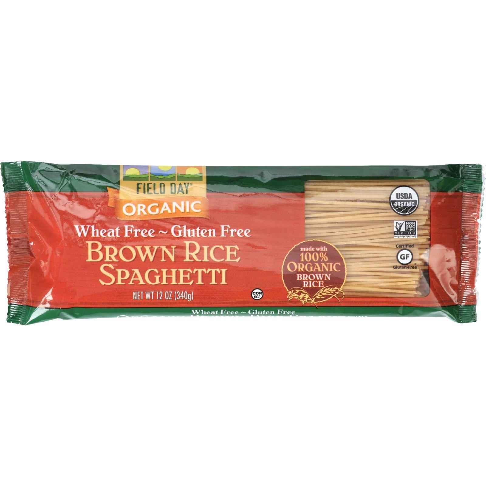 Field Day Pasta Organic Brown Rice Spaghetti, 12 Count