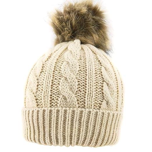 c94e04e49fe39 Amazon.com  MeliMe Baby Boy Girl Winter Warm Fleece Lined Hat ...