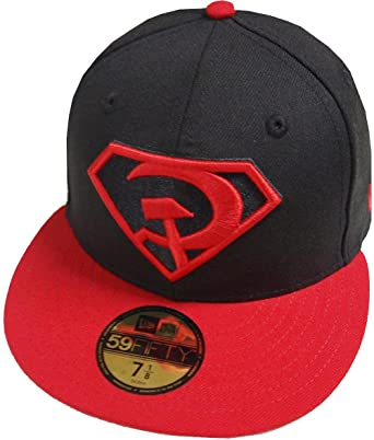 wholesale dealer d3954 e499f New Era Superman Red Son Rising Cap 59fifty 5950 Fitted Basecap Kappe Men  Special Limited Edition  Amazon.co.uk  Clothing