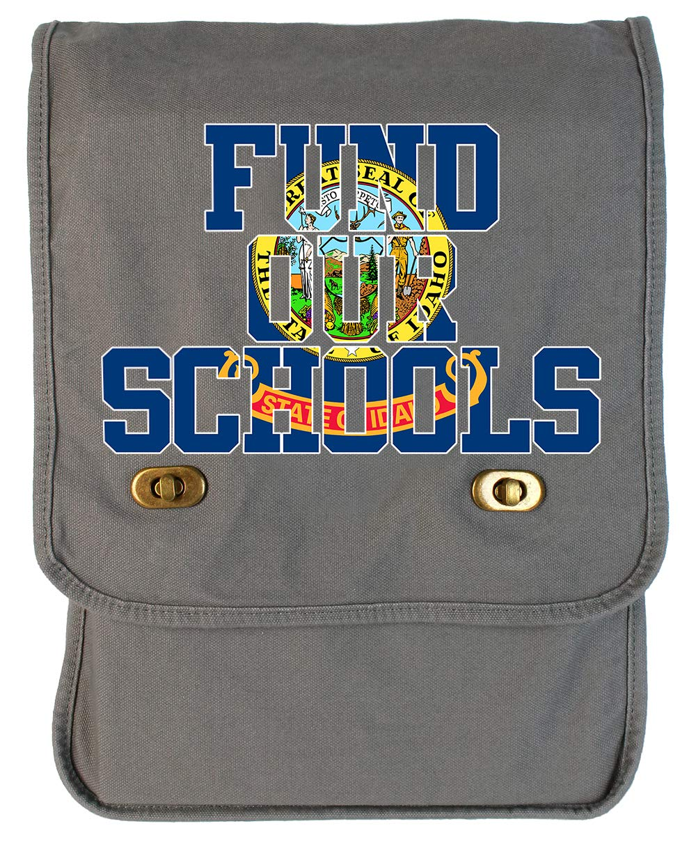 Tenacitee Fund our Idaho Schools Royal Blue Brushed Canvas Messenger Bag