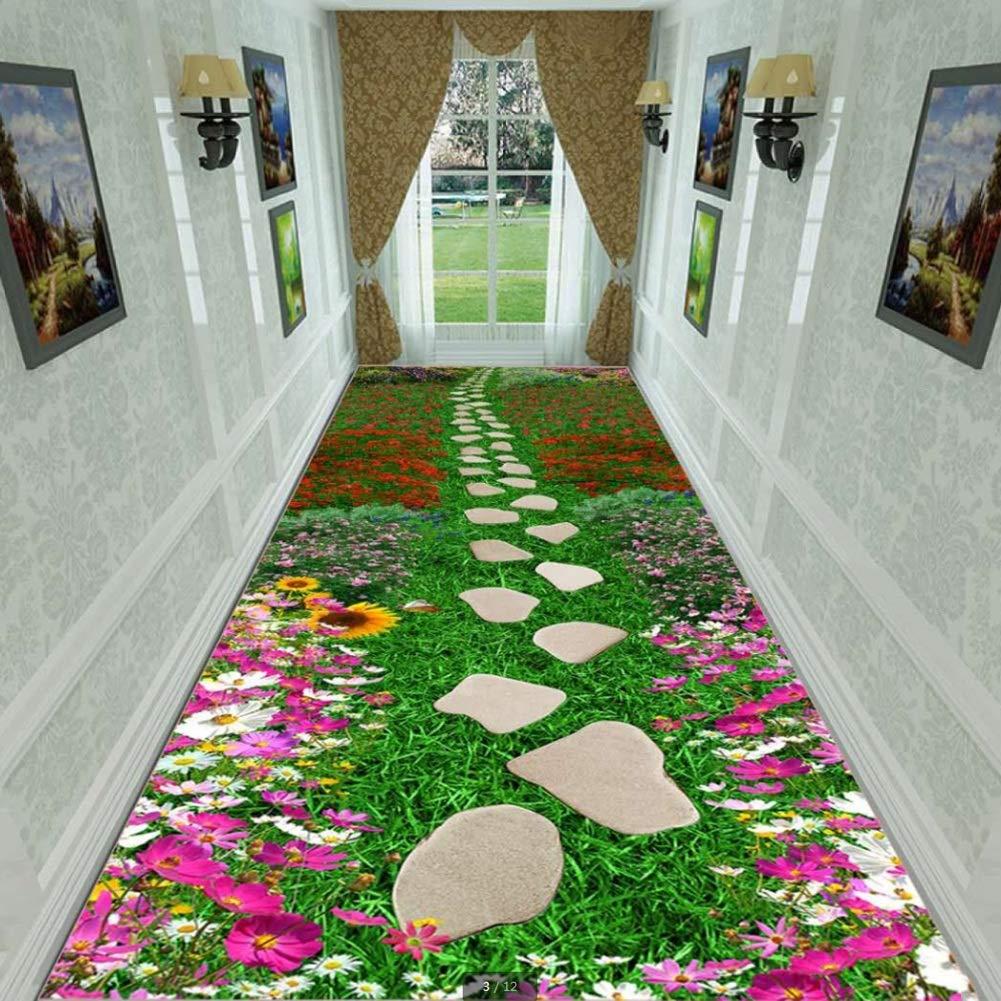 GuoWei-じゅうたん 廊下敷きカーペッ 現代の 3D ナチュラル ロング にとって 回廊 入り口 ホール 屋内 滑り止め 低パイル カッタブル カスタマイズ可能 複数のサイズ (色 : A, サイズ さいず : 1x10m) 1x10m A B07Q138VY4