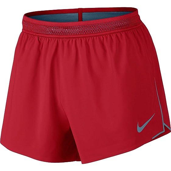 Nike Men's 4'' Aeroswift Running Shorts (University Red/Thundblu ...