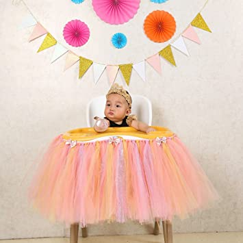 Amazoncom 1st Birthday Girl Baby Tutu For High Chair Decoration