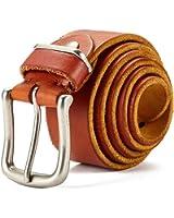 Huluwa Men's Leather Belt, Casual Vintage Belt for Men, 100% Top Grain Leather