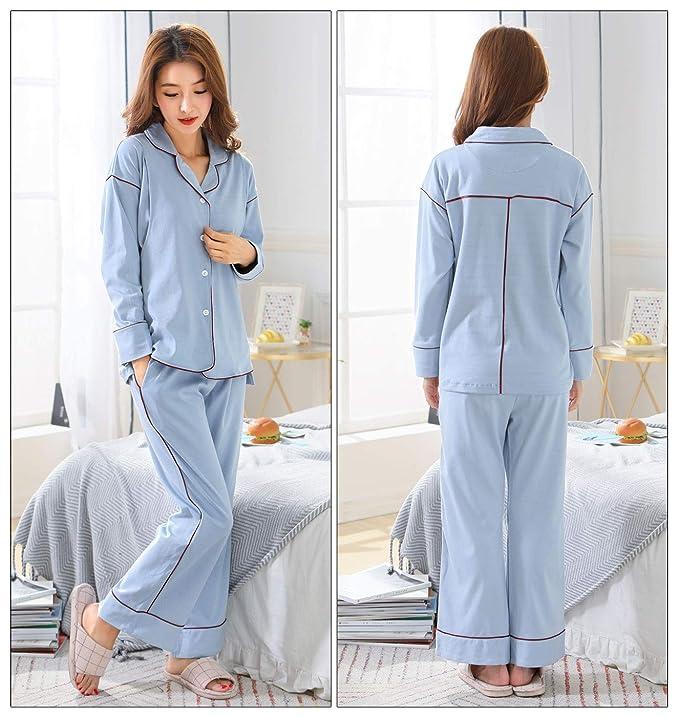 36667ca1d Sujisi - Traje de 2 Piezas Pijama Lactancia de Algodón para Premamá Maternidad  Embarazada Ropa de