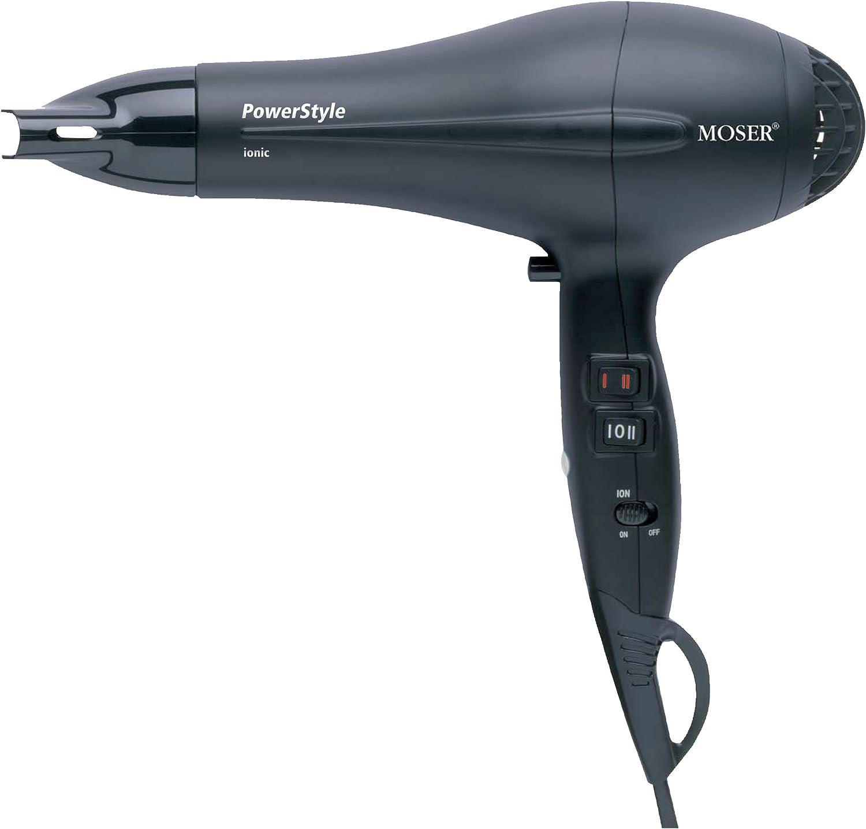 Moser 4320 0050 Asciugacapelli professionale PowerStyle, agli ioni, nero